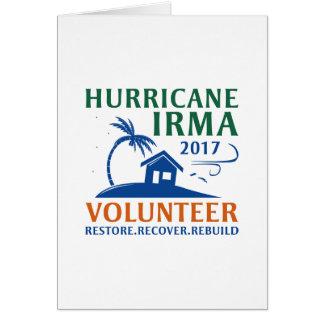 Cartão Voluntário de Irma do furacão