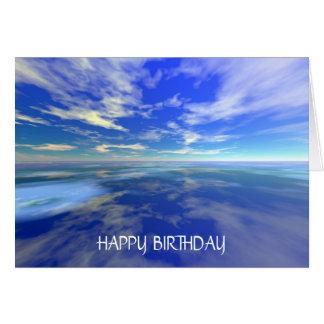 Cartão Vôo sobre a água - aniversário (modelo)