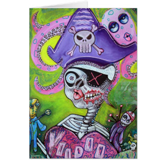 Cartão Voodoo do pirata