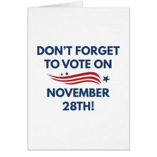 Cartão Voto o 28 de novembro