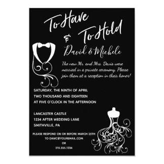 Cartão Votos de casamento após/convite festa de casamento