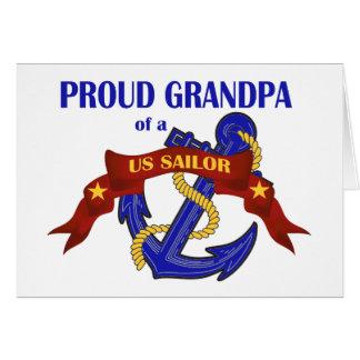 Cartão Vovô orgulhoso de um marinheiro dos E.U.