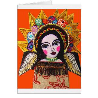 Cartão Vrgin de Guadalupe pela urze Galler