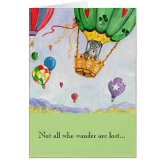 Cartão w/envelope - Sonhos do balão de ar quente
