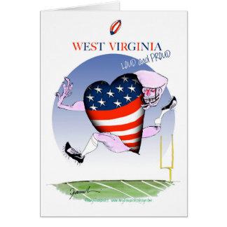 Cartão w fernandes tony altos e orgulhosos de Virgínia,