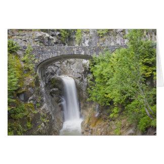 Cartão WA, parque nacional de Monte Rainier, quedas de