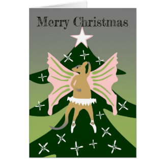Cartão Wallaby sobre a árvore de Natal