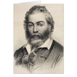 """Cartão Walt Whitman """"felicidade neste lugar, esta hora """""""