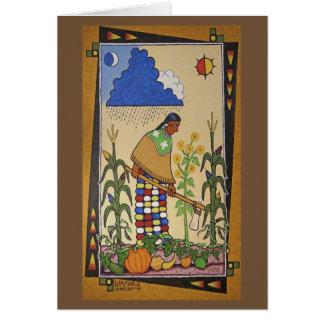 """Cartão """"Wamanje Hintewi"""" (nossas colheitas) Notecard"""