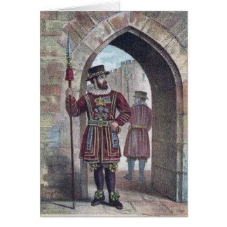 Cartão Warder do Yeoman na torre de Londres