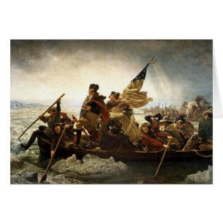 Cartão Washington cruza o Delaware