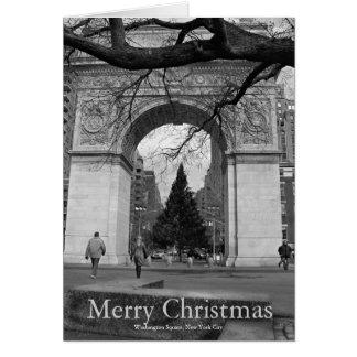 Cartão Washington NYC quadrado do Feliz Natal