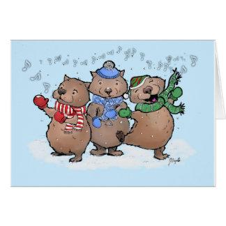 Cartão Wassailing Wombats
