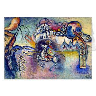 Cartão Wassily Kandinsky - St George & os cavaleiro