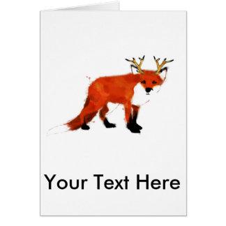 Cartão Watercolour do Fox