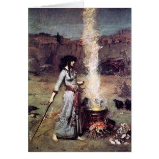 Cartão Waterhouse 1886 mágico do círculo