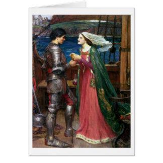 Cartão Waterhouse de John W - Tristan e Isolde (1916)