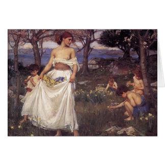 Cartão Waterhouse de John William uma canção da primavera