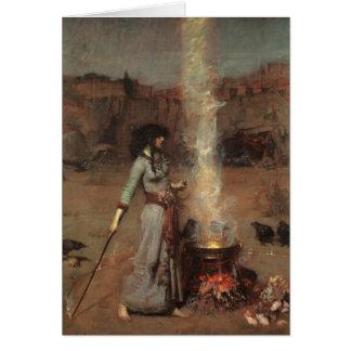 """Cartão """"Waterhouse do círculo mágico"""""""