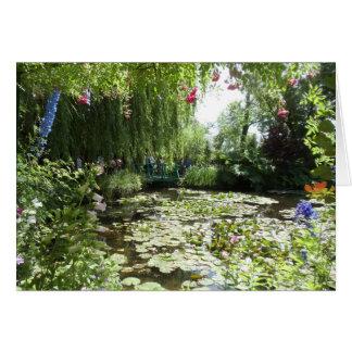 Cartão Waterlilies do jardim de Monet, France