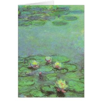 Cartão Waterlilies por Claude Monet, impressionismo do