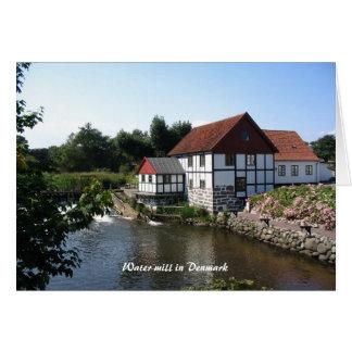 Cartão Watermill em Dinamarca Notecard