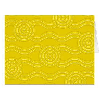 Cartão Wattle aborígene da arte