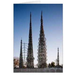 Cartão Watts das torres Los Angeles
