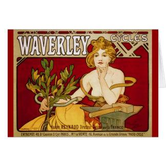 Cartão Waverley dá um ciclo - arte Nouveau - Alphonse