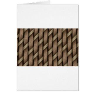 Cartão Weave de Brown da matéria têxtil da cesta