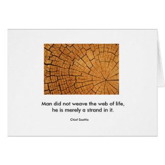 Cartão Web da vida