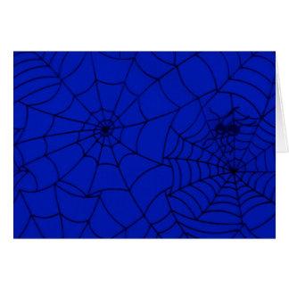 Cartão Web de aranha, rede da aranha, Cobweb - preto azul