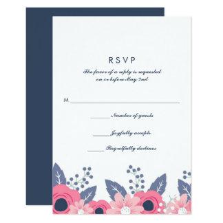 Cartão Wedding azul brilhante misturado das