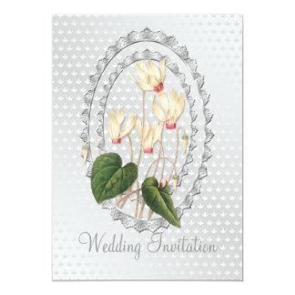 Cartão Wedding branco do convite de