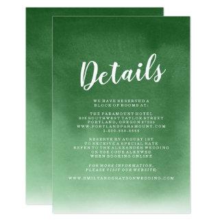 Cartão Wedding coberto da inserção de |