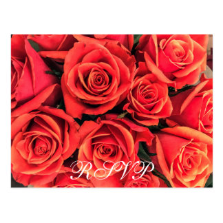 Cartão Wedding cor-de-rosa de RSVP