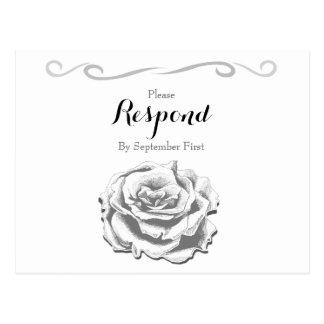 Cartão Wedding cor-de-rosa do vintage minimalista