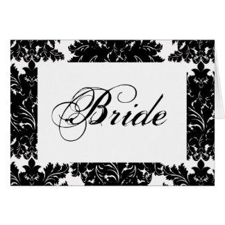"""Cartão Wedding da mesa da """"noiva"""""""