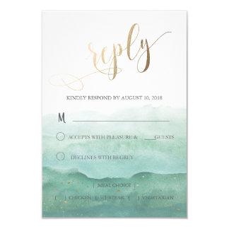 Cartão Wedding da resposta RSVP Convite 8.89 X 12.7cm