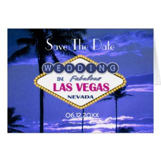 Cartão Wedding de Las Vegas - salvar a data