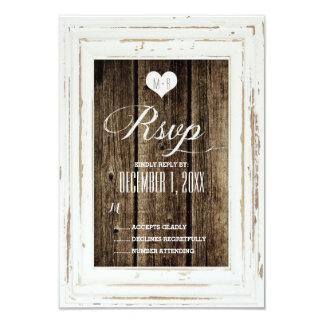 Cartão Wedding de madeira do celeiro rústico Convite 8.89 X 12.7cm