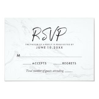 Cartão Wedding de mármore branco moderno do