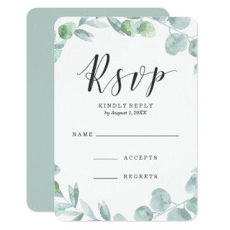 Cartão Wedding delicado da resposta da grinalda  