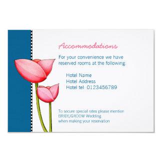 Cartão Wedding do cerco do azul 2 simples das Convite 8.89 X 12.7cm
