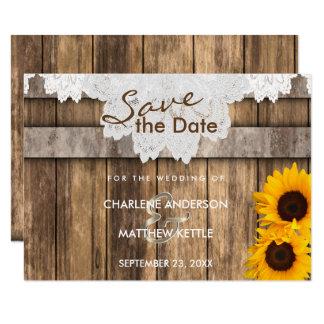 Cartão Wedding em uma madeira & em umas economias