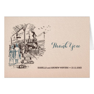 Cartão Wedding expresso - obrigado do casamento você