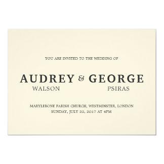 Cartão Wedding minimalista do convite dos nomes |