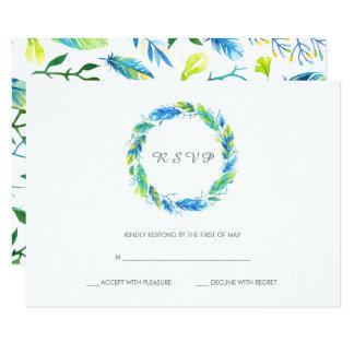 Cartão Wedding moderno brilhante de Boho | RSVP