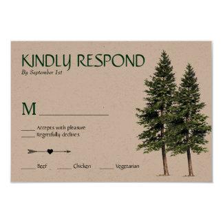 Cartão Wedding nas madeiras RSVP