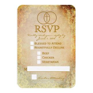 Cartão Wedding religioso transversal cercado de Convite 8.89 X 12.7cm